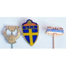 3 значка Федерации Футбола Швеции