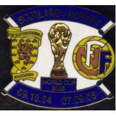 Матчевый значок ШОТЛАНДИЯ - НОРВЕГИЯ (Отбор Чемпионат Мира-2006)