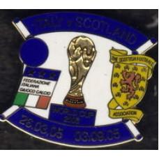 Матчевый значок к играм национальных сборных ИТАЛИЯ - ШОТЛАНДИЯ 2005