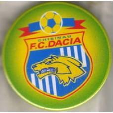 Значок ФК Дачия Кишинев (Молдова), пластик, булавка.