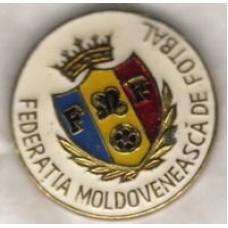 Значок Федерации Футбола Молдовы (белый фон)