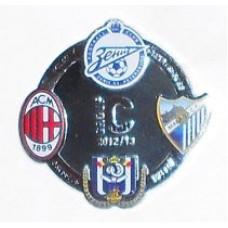 Значок Группа С сезон 2012-2013 (Милан, Зенит Санкт-Петербург, Малага, Андерлехт)