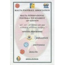 Программа международного турнира на Мальте (сборные Молдовы, Мальты, Эстонии, Беларуси) 2004
