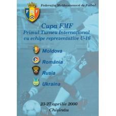 Программа Кубок Федерации футбола Молдовы 2000 (сб. России, Украины, Румынии, Молдовы).
