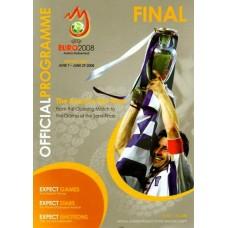 Официальная программа финала Евро 2008 (англ.яз)