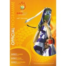 Официальная программа Евро 2008 (на английском языке), формат А4