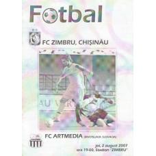 Программа Зимбру Кишинев (Молдова) - Артмедия Братислава (Словакия) ЛЕ 02.08.2007