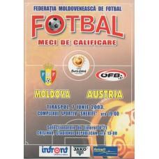 Программа Молдова - Австрия национальные сборные 07.06.2003