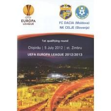 Программа Дачия Кишинев - Целье Словения 05.07.2012 Лига Европы