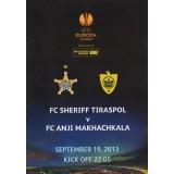 Программа Шериф Тирасполь - Анжи Махачкала 19.09.13