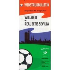 Программа Виллем 2 (Голландия) - Бетис Севилья (Испания) 20.10.1998
