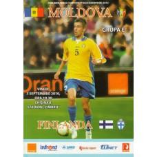 Программа Молдова - Финляндия 03.09.2010 отбор ЧЕ-2012