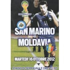 Программа Сан Марино - Молдова национальные сборные 16.10.2012, отбор ЧМ-2014