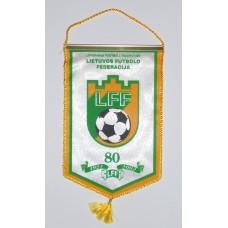 Юбилейный вымпел - Федерации Футбола Литвы - 80 лет