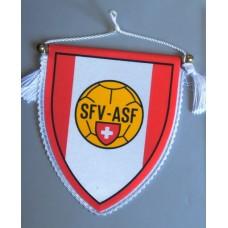 Вымпел Федерации Футбола Швейцарии (ретро, 80-е годы ХХ века)