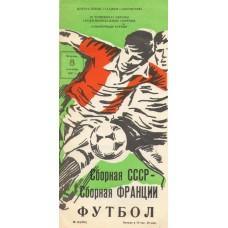 Программа сборная СССР - сборная Франции 08.09.1987 молодежные сборные