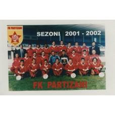 Открытка ФК Партизани Тирана (Албания)